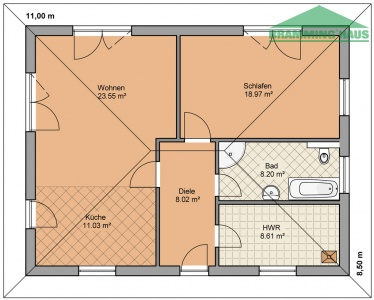 bramming haus gmbh bungalow typ 78. Black Bedroom Furniture Sets. Home Design Ideas